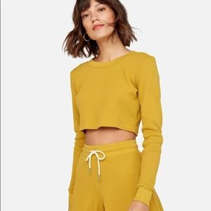 MATE The Label Organic Thermal Crop Top Yellow